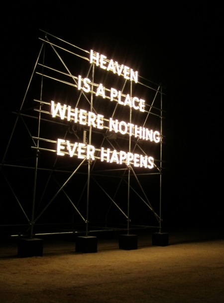 heaven is a place where nothing ever happens acca nathan coley